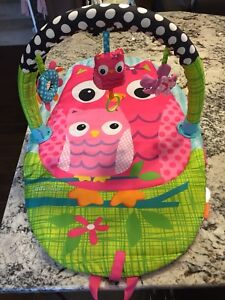 Pink Owl Travelling Play Mat For Babies