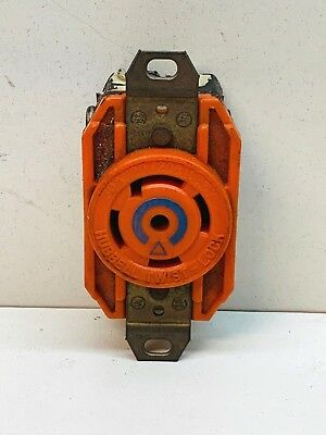 Hubbell IG2810 Isolated Ground Twist-Lock Receptacle 30A 120/208 3Ø 4P 5W L21-30, used for sale  Montrose