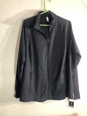 Dogma Women's Black Plus Size Performance Track Jacket- XL