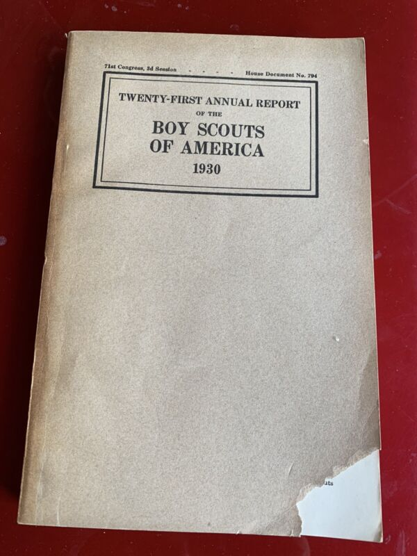 Annual Report to Congress - Boy Scouts - 1930