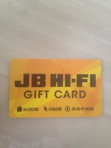 JB HI-FI  gift card 999.99 Red Hill South Canberra Preview