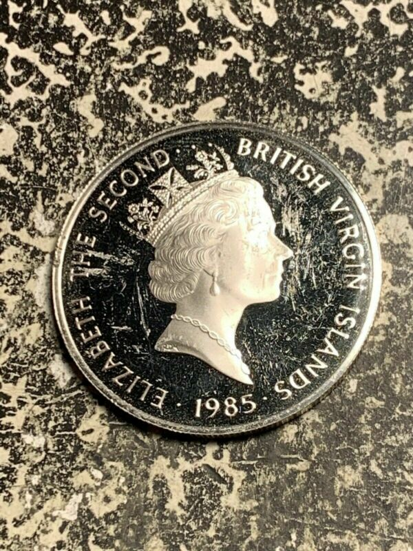1985 British Virgin Islands 20 Dollar Lot#Q8362 Large Silver Coin! Proof!