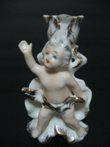 ROYAL SEALY CHINA Candle Holder CHERUB Candle Holder Made in Japan