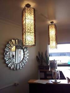 Timber patterned ceiling lights / Lamp shades Tugun Gold Coast South Preview