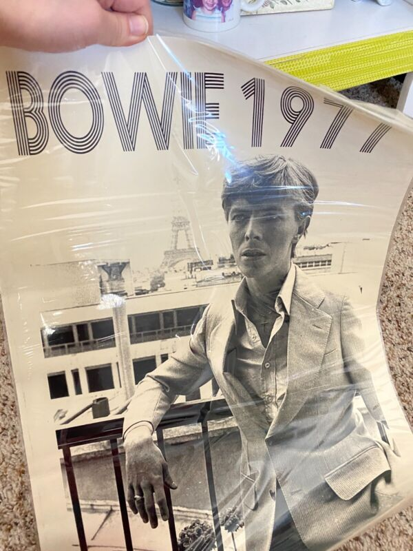 David Bowie 1977 Poster RARE, Made in Paris, Sealed Image