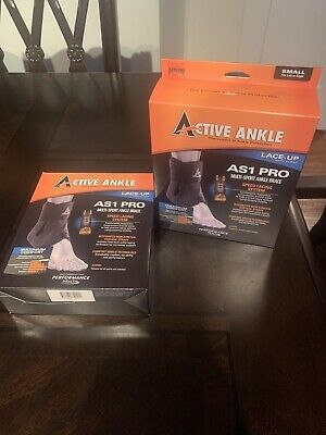 Active Ankle AS1 Pro Lace Up Ankle Brace Ankle Stabilizer for Protection SMALL