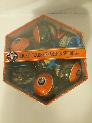 Lionel Trains Christmas Ornament Gift Box Set of 14 Post WWII Design #0321