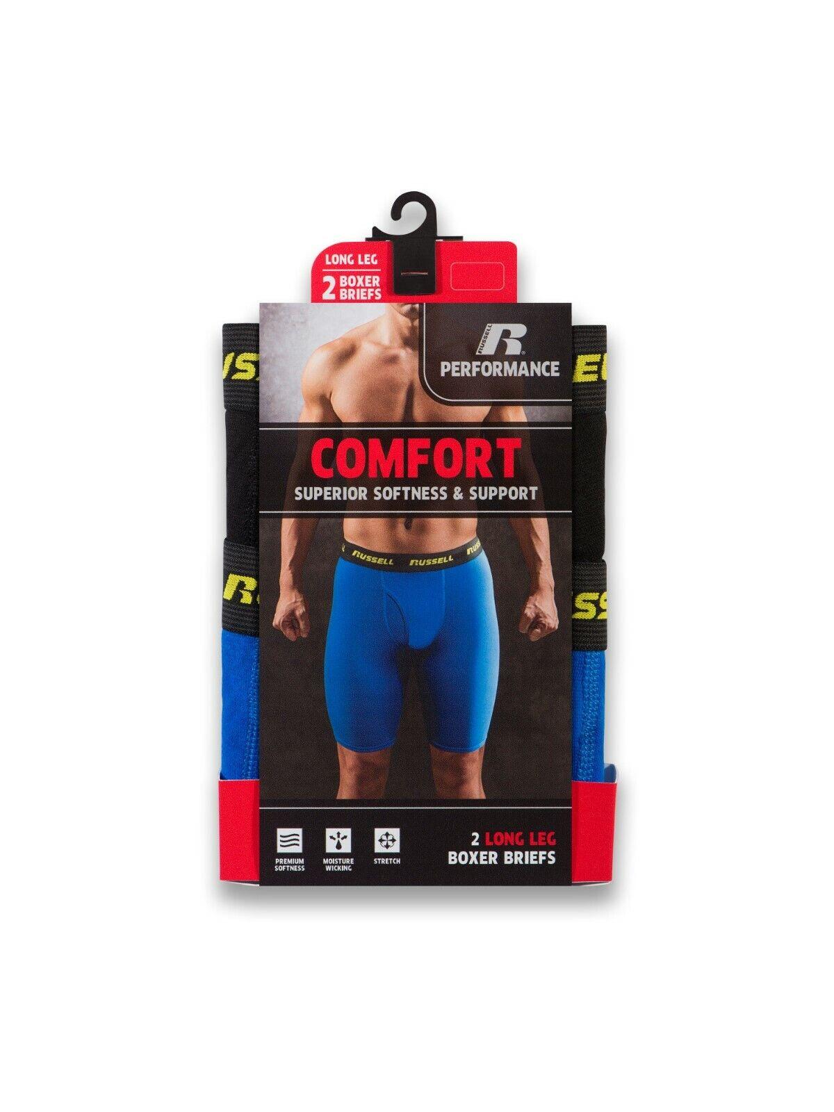 performance long leg boxer briefs 2 pack