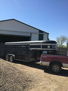 1989 stock, horse, cattle, utility trailer