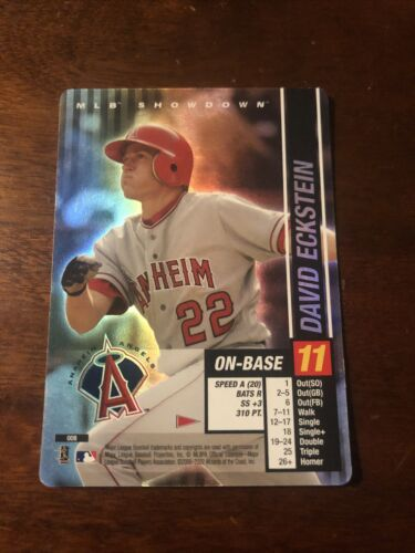 2002 MLB Showdown David Eckstein FOIL Pennant Run 8 Angels - $0.99