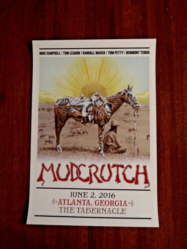 MUDCRUTCH with TOM PETTY POSTER - THE TABERNACLE - ATLANTA, GA 6/2/16