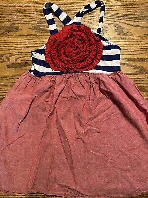 Freckles + Kitty Girls Size 5 Striped, Sleeveless Dress