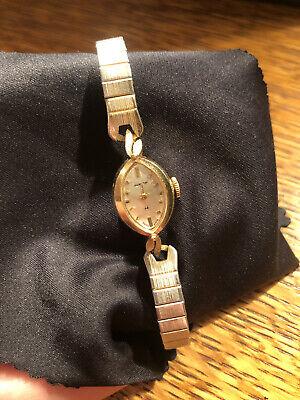Vintage Hamilton 14k Gold Watch 14kt Wristwatch Running Clean