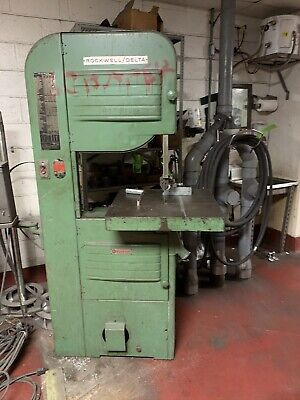 Rockwell Delta Wood Metal Vertical Band Saw 20 Model 96-329 With Welder Bandsaw