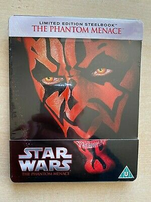 Star Wars Episode I: The Phantom Menace. Blu Ray Steelbook New. Sealed