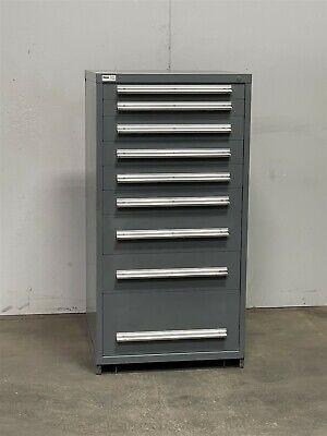 Used Stanley Vidmar 9 Drawer Cabinet Industrial Tool Crib Storage Bin 2423