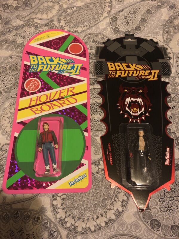 REACTION SUPER 7 BACK TO THE FUTURE MARTY MCFLY BIFF TANNEN HOVERBOARD EXCLUSIVE