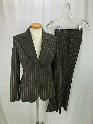The Limited Women's Brown Pinstripe Pant Suit 6