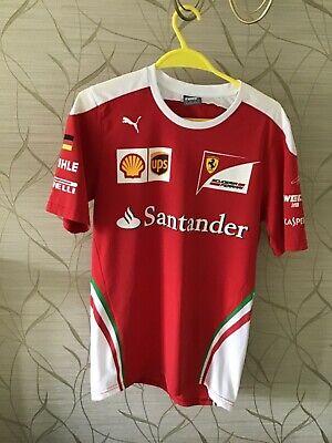 Puma Sebastian Vettel Ferrari F1 Short Sleeve T-shirt - small