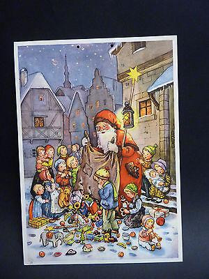 """Fabig-Distling Adventskalender """" Weihnachtsmann bringt den Kindern Geschenke """""""