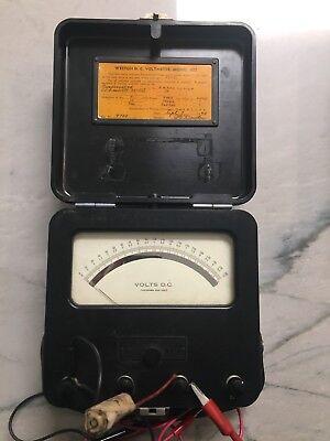 Antique Weston Electric Instrument Model 622 Dc Volt Meter Voltmeter