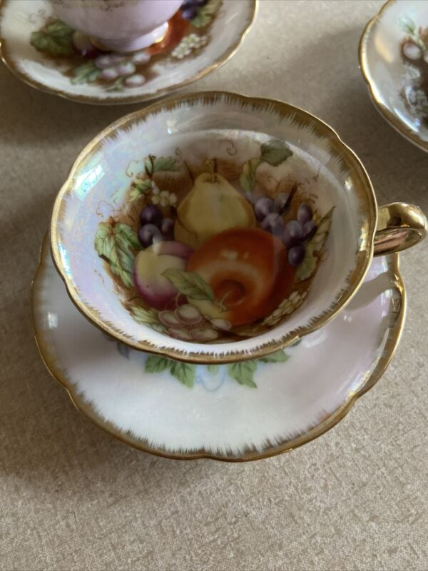 Napco Hand Painted Tea Cup and Saucer