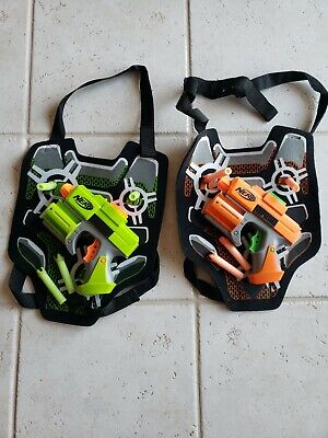 NERF STRIKEFIRE, Dart Tag 2 player SET - Hasbro 2 guns, vests, and darts!!