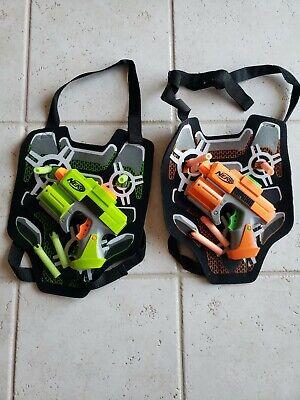 NERF STRIKEFIRE, Dart Tag 2 player SET- Hasbro 2guns, vests, and darts!!