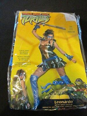 Adult Women's Leonardo Halloween Costume Size M 8-10 TMNT Teenage Mutant Turtles (Halloween Costumes Cartoon Characters Adults)