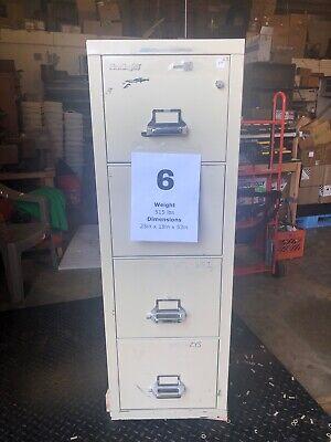 Fireking Vertical Fireproof Filing Cabinet W Key Powerwall Office