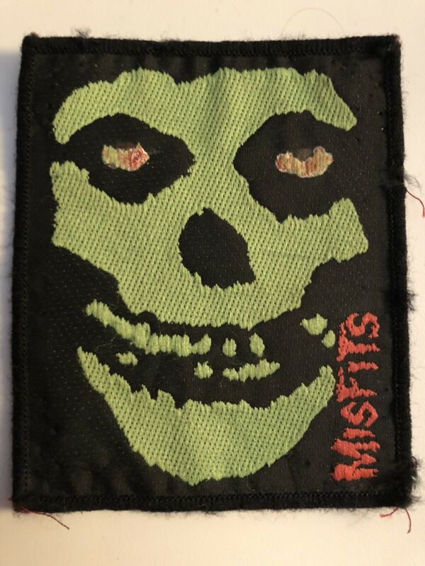 Vintage 1990s The Misfits Embroidered Cloth Patch