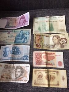 Coin and paper money collection