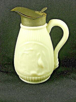 Rare Antique White Opaque / Milk Glass Molasses Jug / Syrup - STORK & SWAN