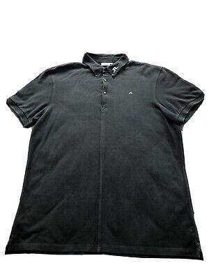 J Lindeberg Navy Golf Polo Shirt (large)