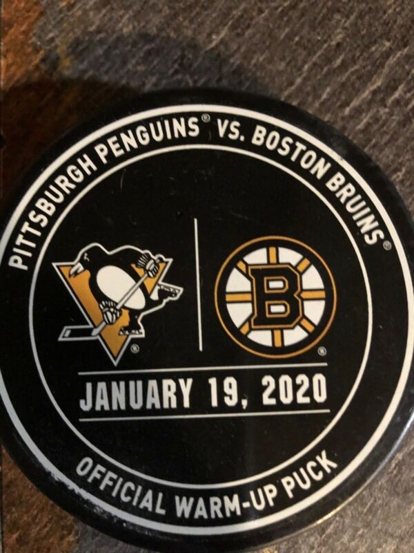 Boston Bruins Vs. Pittsburgh Penguins 2020 Official Warm Up Puck