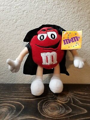M&M's Candy Red Halloween Plush Dracula Cape Stuffed Animal 9