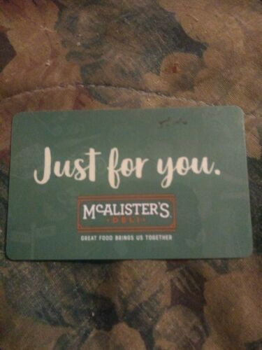 McAlister s Deli Used Collectible Gift Card NO VALUE 310466 - $1.88