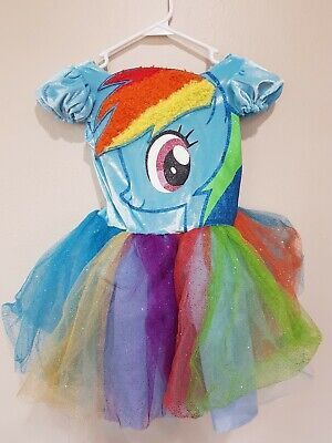 Deluxe Disney My Little Pony Rainbow Dash Costume Small 4-6X for Girls E4