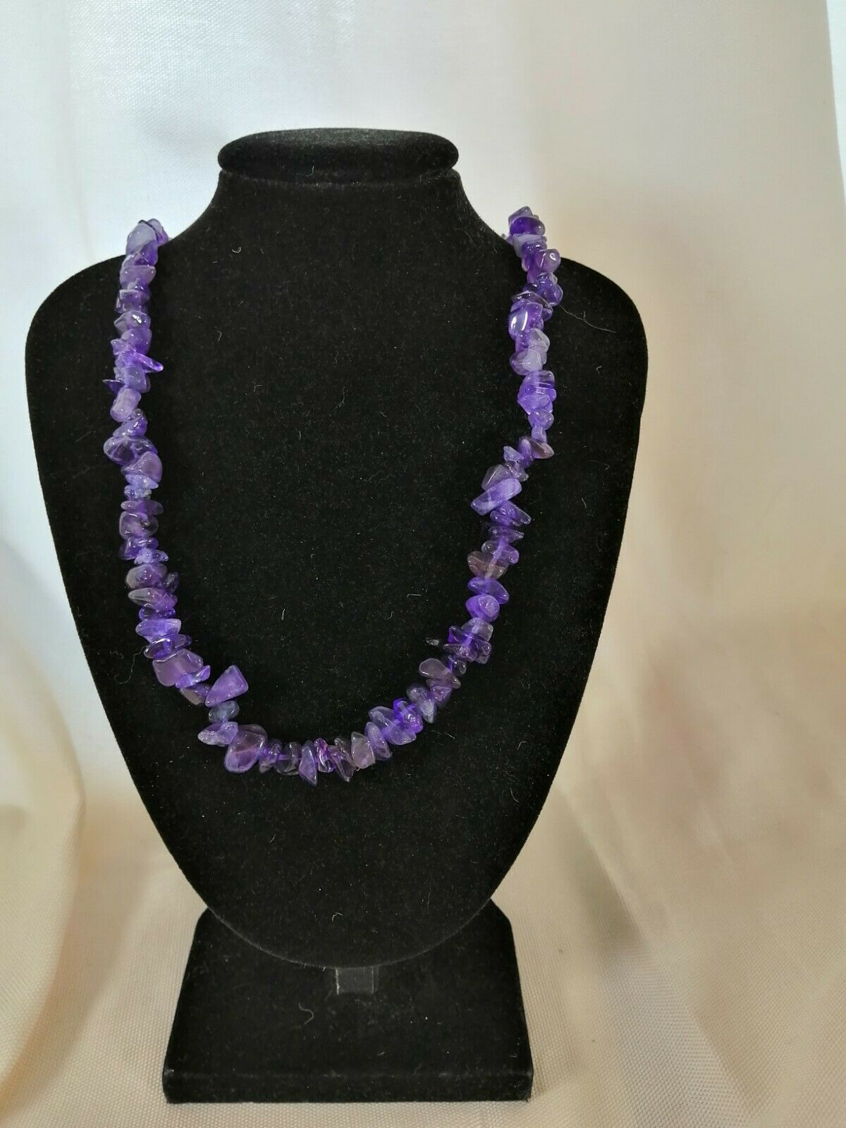 "Amethyst Chip Necklace 16"" to 34"", Long Necklace, Short Necklace"