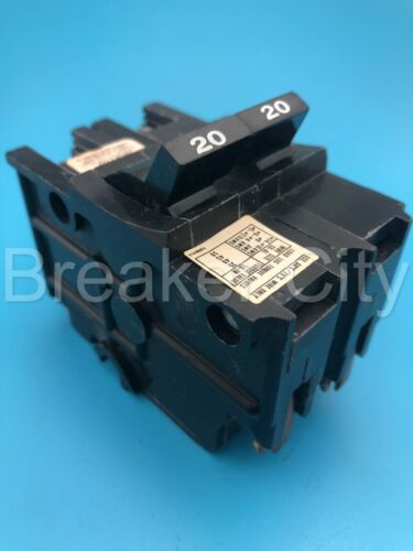 Federal Pacific / American 20 Amp 2 Pole Type NA220 Stab-Lok FPE Circuit Breaker