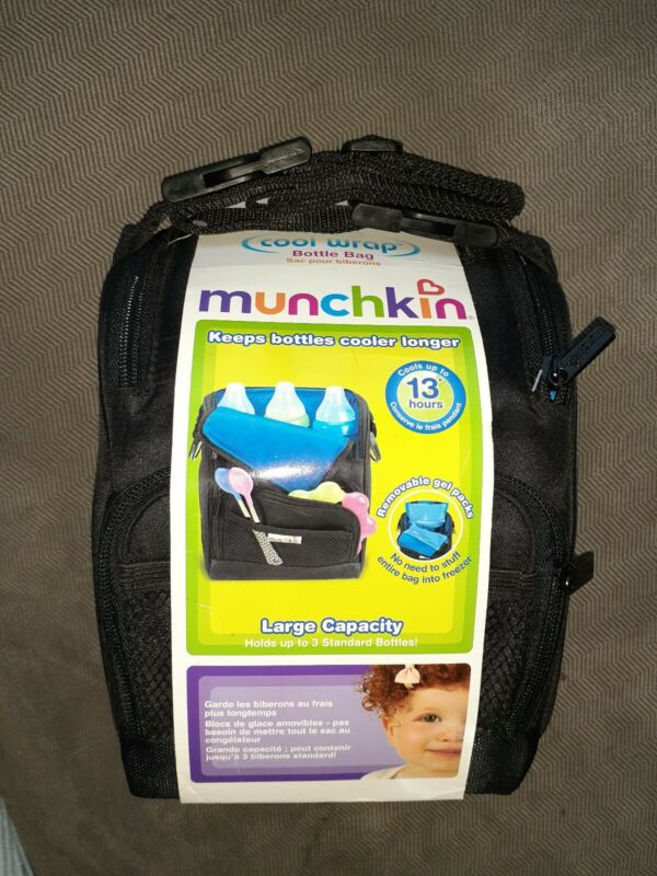 Munchkin Cool Wrap Baby Bottle Bag insulated crossbody or fanny pack pocket new