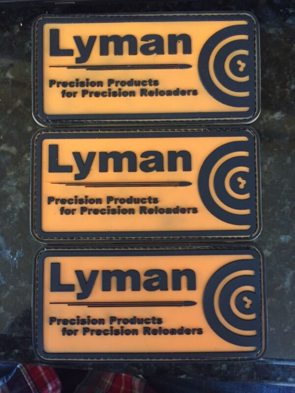 ***Lot of 3*** Lyman Precision Products Reloading PVC Patch Hook Loop Tactical