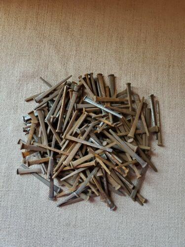 "Vintage Antique Lot of 2lbs 2 1/2"" Cut Square Nails NOS Conshohocken PA"