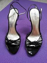 BRAND NEW & UNWORN Guess Gwolina Black Party Strappy Heels Bondi Junction Eastern Suburbs Preview