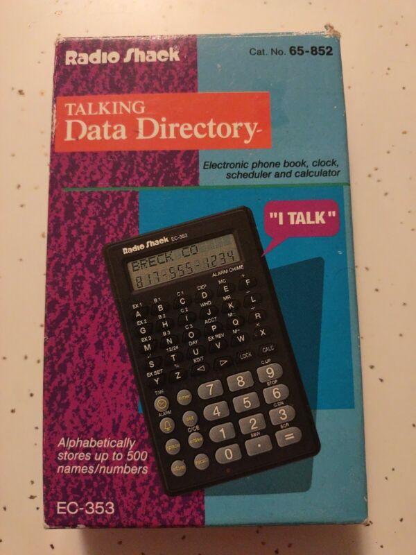 Radio Shack Electronic Talking Data Directory Organizer 65-852 nob