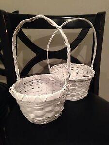 White Flower Girl Baskets (x2) - $10