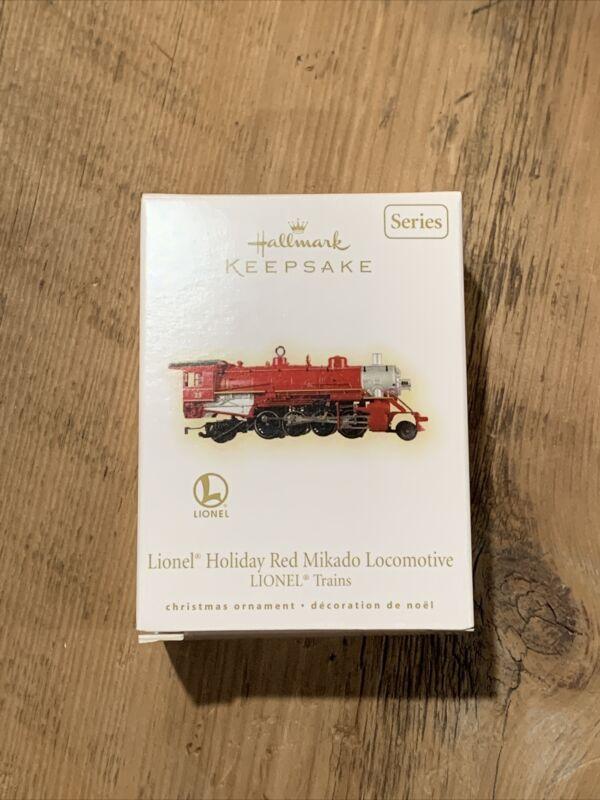 NEW Hallmark LIONEL 2009 Trains #14 Holiday Red Mikado Locomotive Ornament