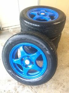 205/60R15 with 4x114mm bolt pattern OZ Racing rims