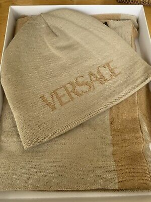 NWT VERSACE HAT AND SCARF SET