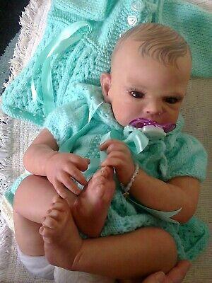 """Reborn baby doll 21"""" Bronwyn by Romie Strydom Retired Ltd Edition tiny booboos"""